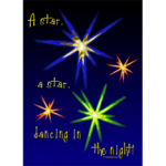 A star, a star, dancing in the night - Christmas carol illustration