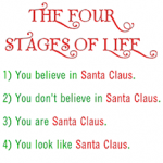 Santa - Four Stages of Life