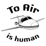 To Air Is Human airplane illustration