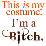 This is my costume - I'm a Bitch