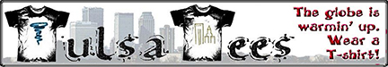 Tulsa Tees banner image with skyline